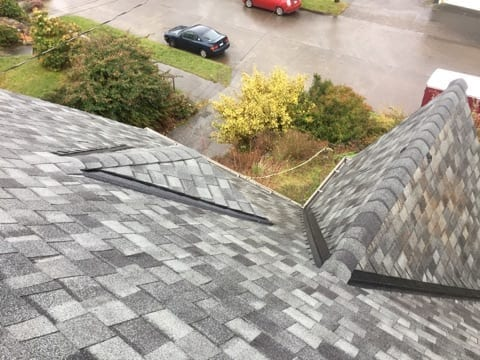 seattle home re-roof brown and grey