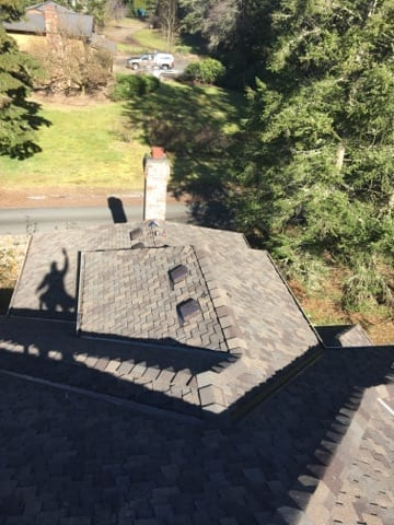 woodinville composite roof replacement top view