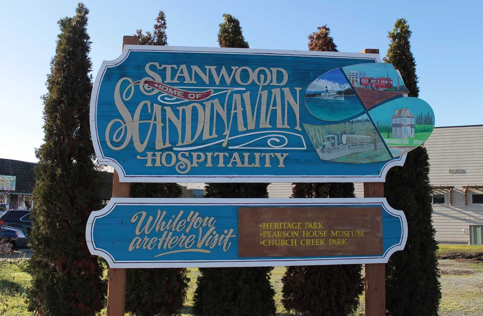 Welcome marque for Stanwood Washington